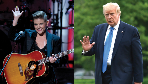 Natalie Maines and Donald Trump