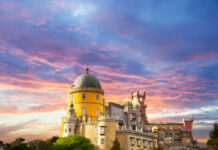 Pena Palace, Sintra, Portugal photo via Depositphotos