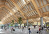 The unique arc of the spacious Departure Hall is inspired by one of the peaks of mountains in the region as other elements of design at the hall have similar take-offs from nature that define the province's landscape.