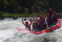 Rafters oftentimes commanded to stop paddling during high-intensity rapids
