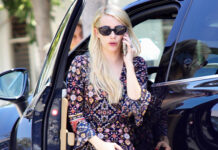 Emma Roberts In A Boho Dress