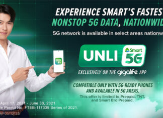 Smart expandsUnli5Gavailability to all5G-covered sites nationwide