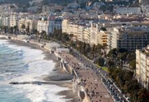 Nice, French City seafront