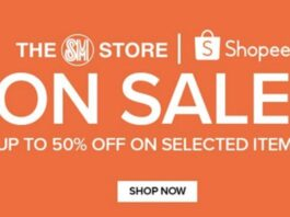 SM Store is offering up to 50% OFF discount on 8.8 Mega Flash Sale